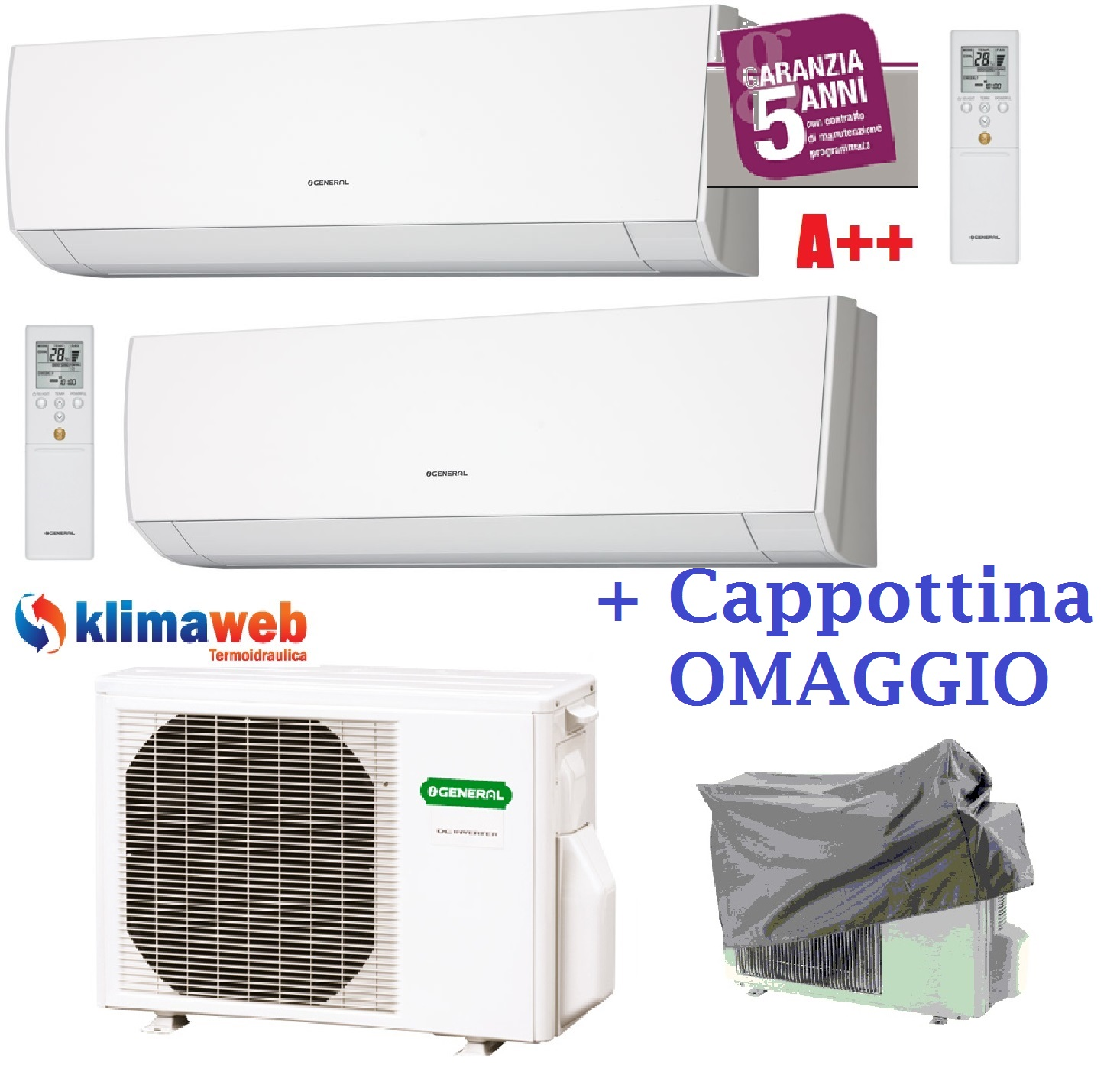Climatizzatore condizionatore dual split serie lmca 7 7 u for Split condizionatore