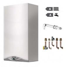 Caldaia Ariston Cares Premium 24 Kw FF condensazione OMAGGIO KIT FUMI COASSIALE+RACCORDI IN RAME E VALVOLE nuova tecnologia erp uni en 483 METANO