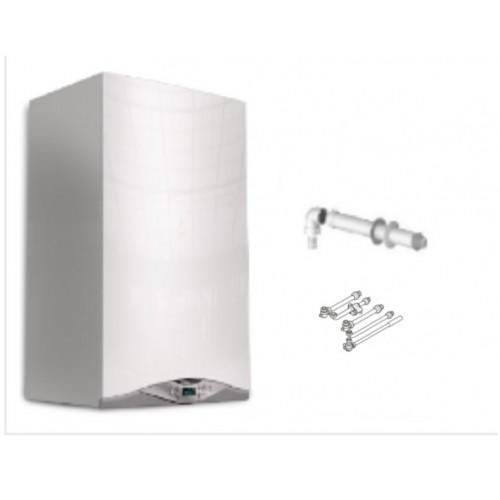 CALDAIA ARISTON HS PREMIUM 24 EU CONDENSAZIONE ErP  METANO o GPL con kit scarico fumi e kit raccordi per installazione OMAGGIO