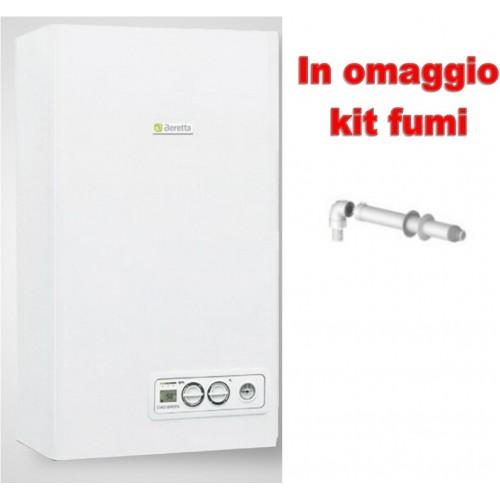 Caldaia CIAO AT 29 csi LX LOW NOx a condensazione Completa di Kit Fumi METANO