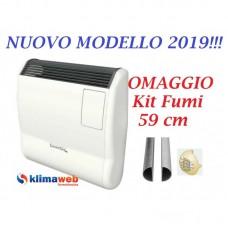 Stufa Radiatore a GAS Termoconvettore Gazelle  EVO 3000 - Nuova Modello 2020 - Orologio Settimanale  GPL - Omaggio kit fumi