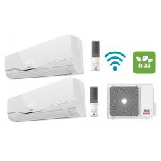 Climatizzatore RIELLO serie AARIA PLUS inverter dual split 7000+7000 esterna 250 P Gas R32 7+7 Wifi Opzionale Classe A++ Nuovo modello Wifi Opzionale