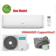 Climatizzatore Condizionatore Hisense EASY SMART 9000 btu Gas R32 CA25YR1AG monosplit inverter classe A++ NUOVO MODELLO Cappottina Omaggio