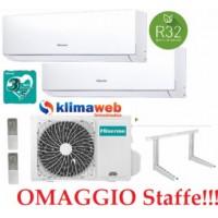 Climatizzatore Hisense New Comfort 2AMW42U4RRA Dual Split 7+7 esterna gas R32 inverter A++ Wifi Opzionale!! NUOVO MODELLO 2020!! Omaggio Staffe ALETTE INTERNE ORIENTABILI GARANZIA 3/5 ANNI 7000+7000