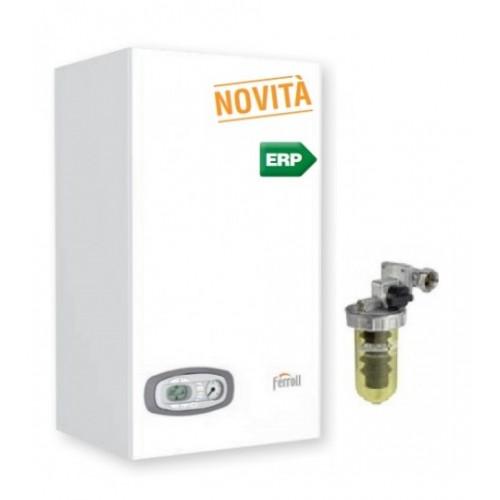 Caldaia Ferroli DIVATECH D LN C 24 kw camera aperta + Filtro POLIFOSFATI a tiraggio naturale Metano Low Nox Ultimo modello New ERP