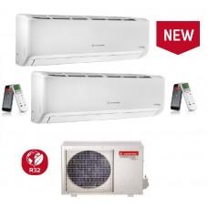Climatizzatore Condizionatore Ariston serie ALYS R32 dual split 9000+9000 esterna 50 XD0-O 9+9 Classe A++ WI-FI Opzionale - Funziona AUTO PULENTE - ULTIMO MODELLO!!!