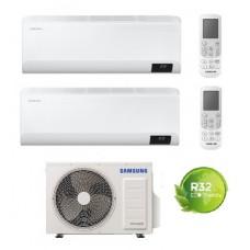 Climatizzatore Condizionatore Samsung mod. CEBU 9000+9000 dual split esterna AJ050TXJ WIFI 9+9 GAS R-32 NEW MODEL! Intelligenza artificiale - Comando vocale - Progr. settimanale