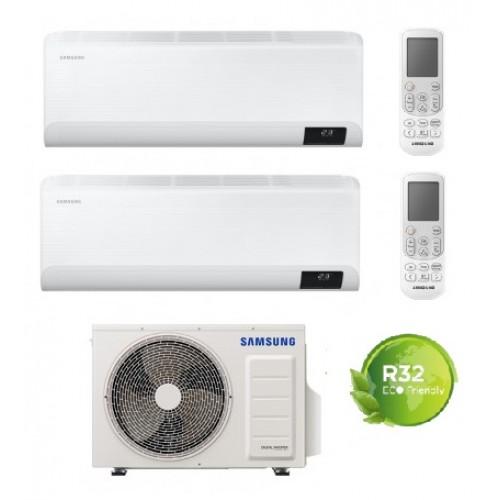 Climatizzatore Condizionatore Samsung mod. CEBU 7000+12000 dual split esterna AJ040TXJ WIFI 7+12 GAS R-32 NEW MODEL  Intelligenza artificiale - Comando vocale - Progr. settimanale