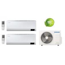 Climatizzatore Condizionatore Samsung WINDFREE AVANT 7000+7000 esterna AJ040TXJ dual split 7+7 con MICROFORI e WiFi gas R32 Classe A++ Nuovo modello Intelligenza artificiale - Comando vocale - Progr.settimanale