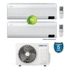 Climatizzatore Condizionatore Samsung WINDFREE ELITE 7000+7000 dual split esterna AJ040TXJ con MICROFORI WiFi e Sensore di MOVIMENTO 7+7 gas R32 Classe A+++ Nuovo modello
