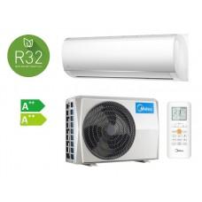 Climatizzatore Condizionatore Midea RIGHT 9000 btu Gas R32 A++ NEW 2020 MSMABU-09HRDN8 monosplit con Deflettore ORIENTABILE