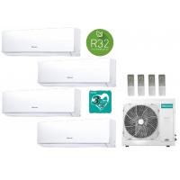 Climatizzatore condizionatore New Comfort 4AMW81U4RAA Quadri Split 9+9+9+9 esterna gas R32 inverter A++ Wifi Opzionale New 2020 ALETTE INTERNE ORIENTABILI 9000+9000+9000+9000