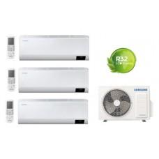 Climatizzatore Condizionatore Samsung WINDFREE AVANT 9000+9000+9000 esterna AJ052TXJ trial split 9+9+9 con MICROFORI e WiFi gas R32 Classe A++ Nuovo modello 2020 Intelligenza artificiale - Comando vocale - Progr.settimanale