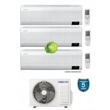 Climatizzatore Condizionatore Samsung WINDFREE ELITE 7000+7000+7000 trial split esterna AJ052TXJ con MICROFORI WiFi e Sensore di MOVIMENTO 7+7+7 gas R32 Classe A+++ Nuovo modello 2020