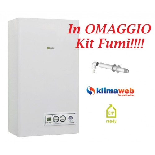 Caldaia ciao green 25 csi a condensazione nuova tecnologia erp con kit fumi omaggio gpl
