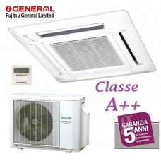 Climatizzatore General Fujitsu Cassetta MONOFASE AUHG30LRLE 30000 btu Linea COMMERCIALE COMPATTA A++ inverter Pompa di calore gas R410A estensione garanzia 5 anni