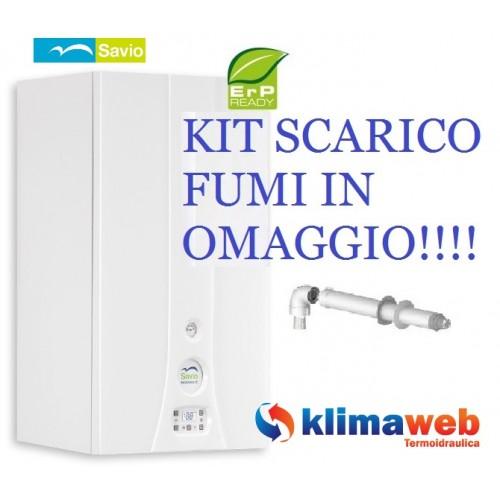 Savio Caldaia a Condensazione INOXDENS HE 35S Riscaldamento e Acqua Sanitaria Nuova Tecnologia Erp METANO + Kit Scarico Fumi OMAGGIO