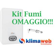 Caldaia Ferroli A Condensazione Bluehelix PRO RRT 24 C Con Gas-Adaptive Completa Kit Fumi Low Nox - Kit Fumi Omaggio