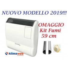 Stufa Radiatore a GAS Termoconvettore Gazelle Premix EVO 7000 - Nuova Modello 2018 - Orologio Settimanale METANO - Omaggio kit fumi