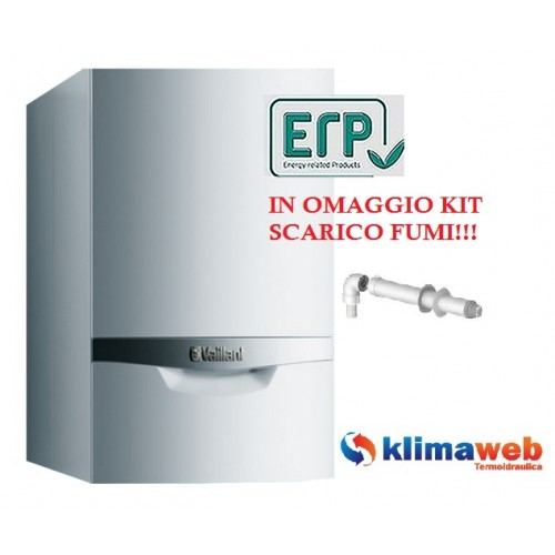 Caldaia ecotec plus vmi 306/5-5 con bollitore a condensazione 30,6 kw nuova tecnologia erp in omaggio kit fumi