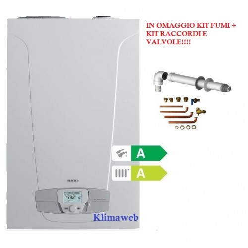 Caldaia nuvola platinum + 33 ht ga new erp omaggio kit  fumi + kit raccordi  e valvole