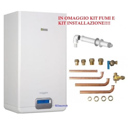 Caldaia exclusive green he 35 csi a condensazione nuova tecnologia erp con kit installazione omaggio GPL