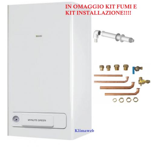 Caldaia mynute green e 25 csi a condensazione nuova tecnologia erp in omaggio kit fumi e kit raccordi GPL