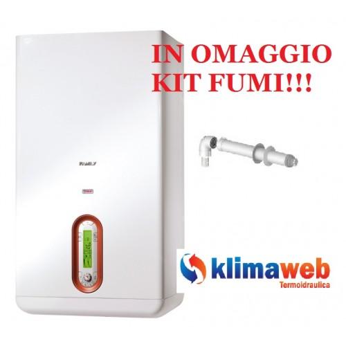 Caldaia Family AR 35 kis condens nuova tecnologia erp alto rendimento uni en 483 in omaggio kit fumi