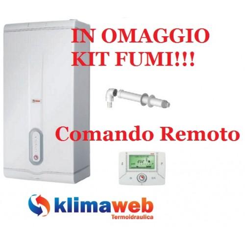 Caldaia Family Externa Condens 3.0 kis nuova tecnologia erp da esterno con comando remoto di serie uni en 483 in omaggio kit fumi