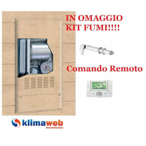 Caldaia  Family IN Condens 3.0 kis da incasso con comando remoto nuova tecnologia erp uni en 483 in omaggio kit fumi