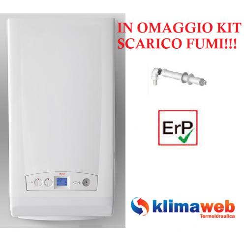 Caldaia Kon M C24 a condensazione low nox 24kw nuova tecnologia erp in omaggio kit scarico fumi gpl