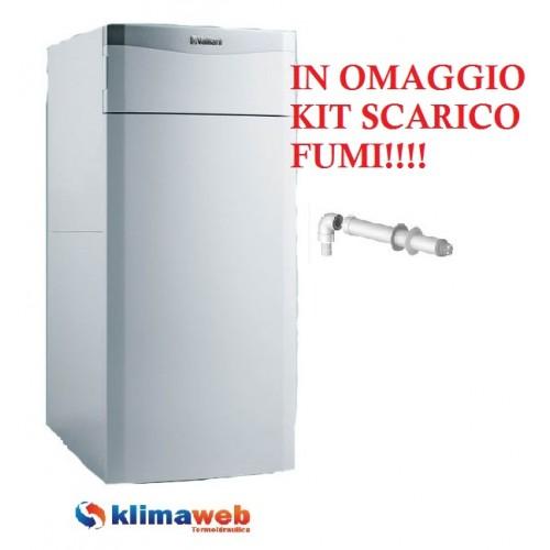 Caldaia basamento a condensazione EcoCOMPACT VSC 346/4-5 100 litri 34kw con bollitore nuova tecnologia erp in omaggio kit fumi