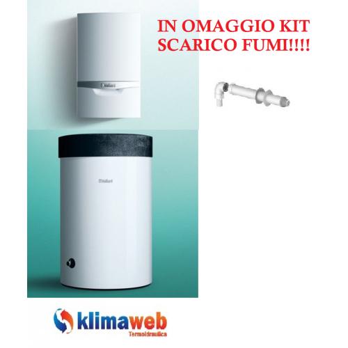 Caldaia Ecotec Exclusive VM 296/5-7 a condensazione solo riscaldamento da interno nuova tecnologia erp Green IQ 29 kw in omaggio kit fumi