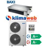 Climatizzatore Condizionatore Baxi monosplit CANALIZZATO 36000 btu Light Commercial DC inverter classe A++/A+ RZGND100 Gas R32 Wifi opzionale