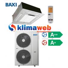 Climatizzatore Condizionatore Baxi monosplit CASSETTA 4 VIE 36000 btu DC inverter classe A++/A+ RZBK100 Gas R410