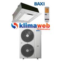 Climatizzatore Condizionatore Baxi monosplit CASSETTA 4 VIE 48000 btu DC inverter classe RZBK140 Gas R410