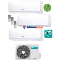 Climatizzatore condizionatore New Comfort 4AMW81U4RAA Trial Split 9+12+18  esterna gas R32 inverter A++ Wifi Opzionale New ALETTE INTERNE ORIENTABILI
