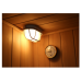 Sauna Combinata FINLANDESE Kw-S03 legno Hemlock Coibentato 3 posti con stufa Sawo, Termometro, Clessidra Assistenza Italia Garanzia 2 anni