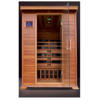 Sauna Infrarossi Kw-200K in Cedro rosso 2 posti 6 piastre irradianti in carbonio Radio Cromoterapia Assistenza Italia Garanzia 2 anni