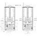 Termostufa a Pellet alto rendimento Perfecta Maiolica Idro DANIELA 20idro 19Kw 440 mc (fino a 130 mq) Conto Termico 2.0 Wifi Opzionale