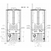 Termostufa a Pellet alto rendimento Perfecta Maiolica Idro NADIA 24idro Stufa 23Kw 510 mc (fino a 150 mq) Conto Termico 2.0 Wifi Opzionale